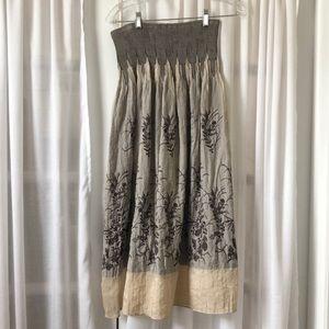 Dresses & Skirts - One Size Printed Maxi Skirt/Dress